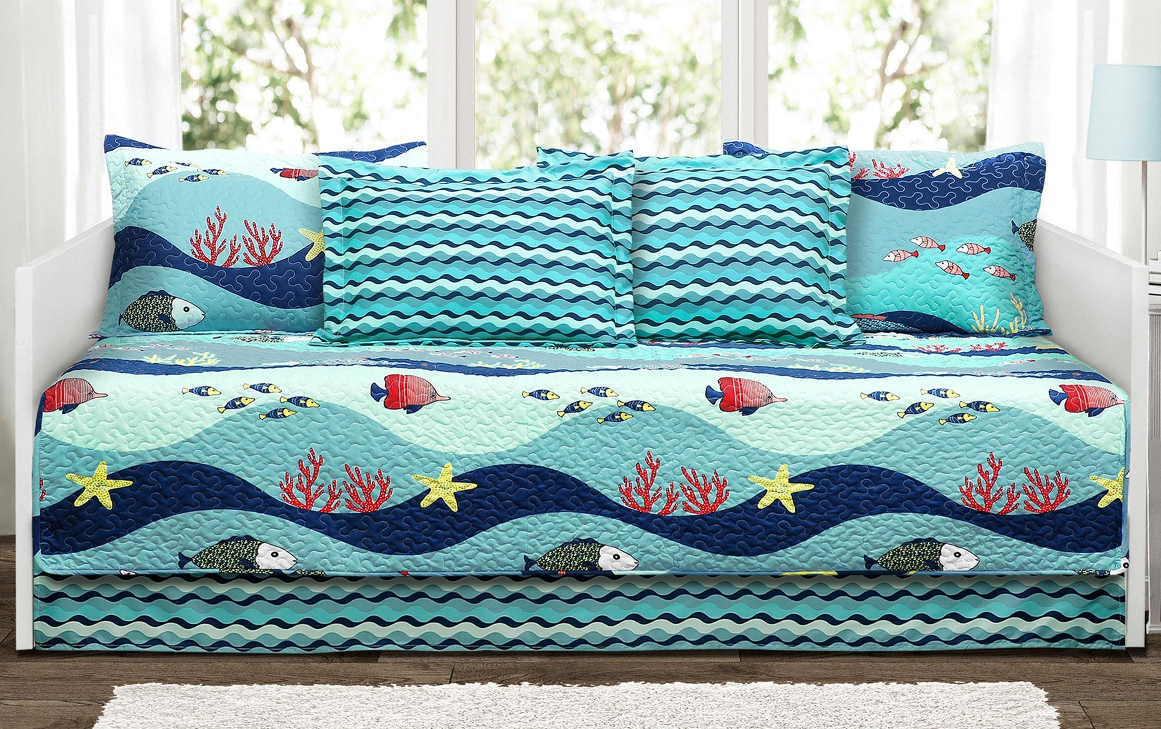 Ocean Life 6 Piece Daybed Cover Set Bobs Com