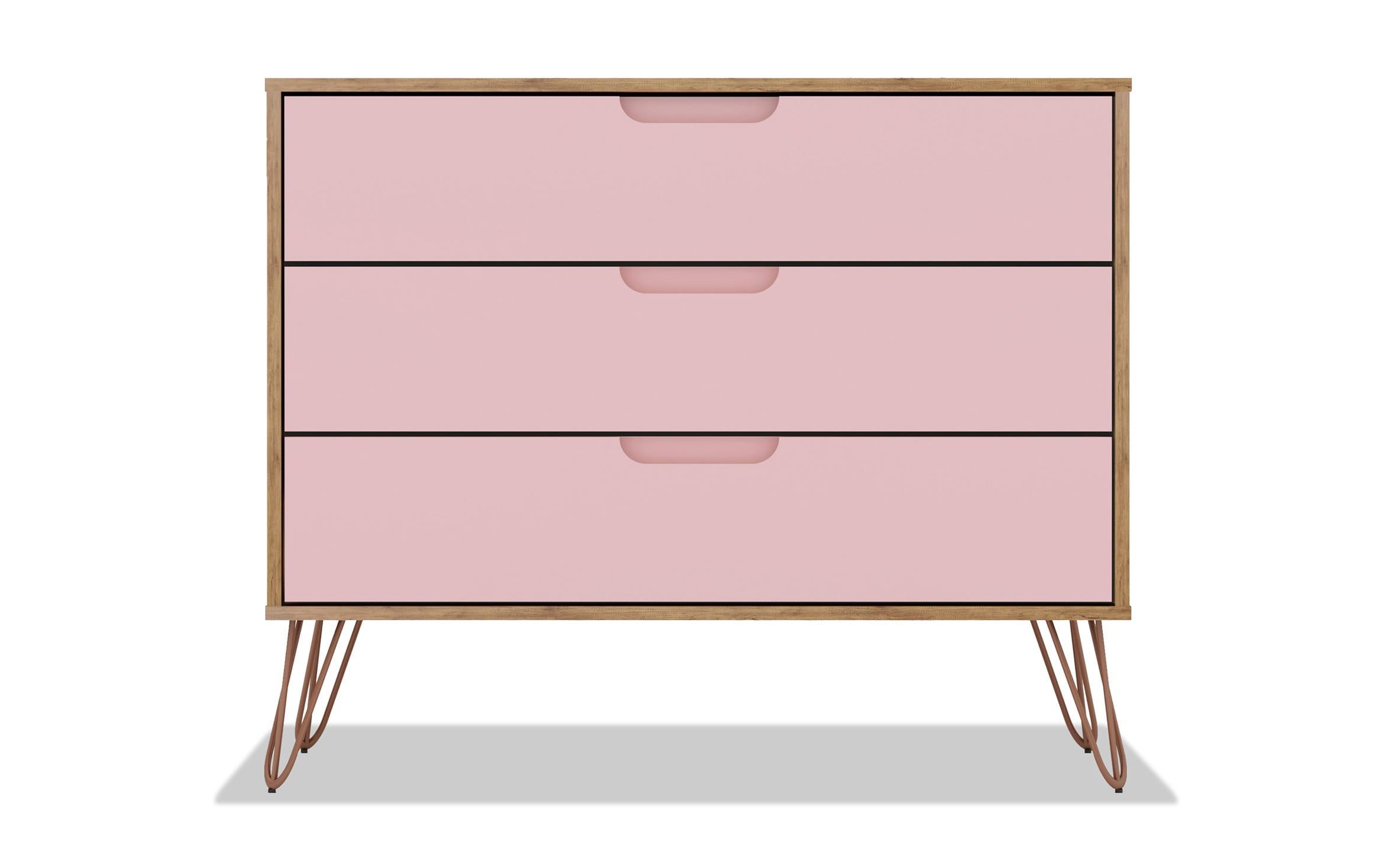 Melton Oak Pink Dresser Bobs Com
