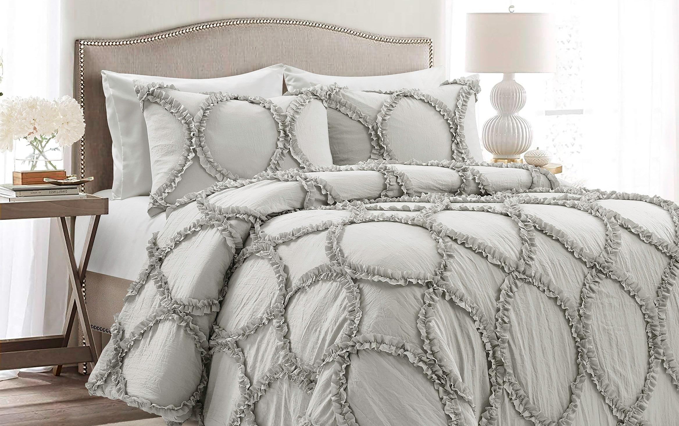 Beth 3 Piece Queen Light Gray Comforter Set Bobs Com