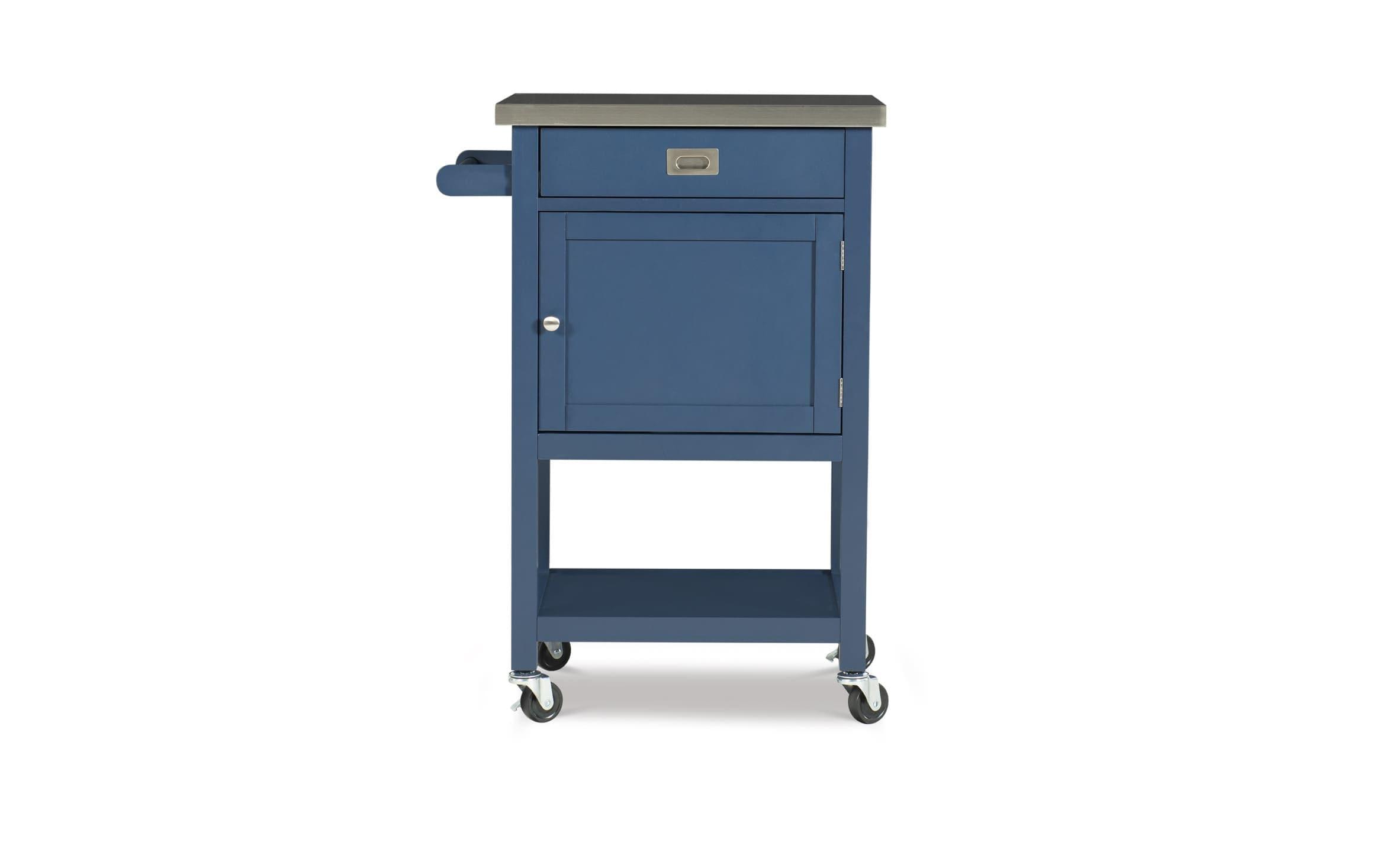 Logan Navy Kitchen Cart Bob S Discount Furniture
