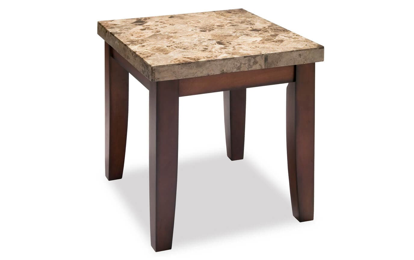 Montibello Brown Marble End Table