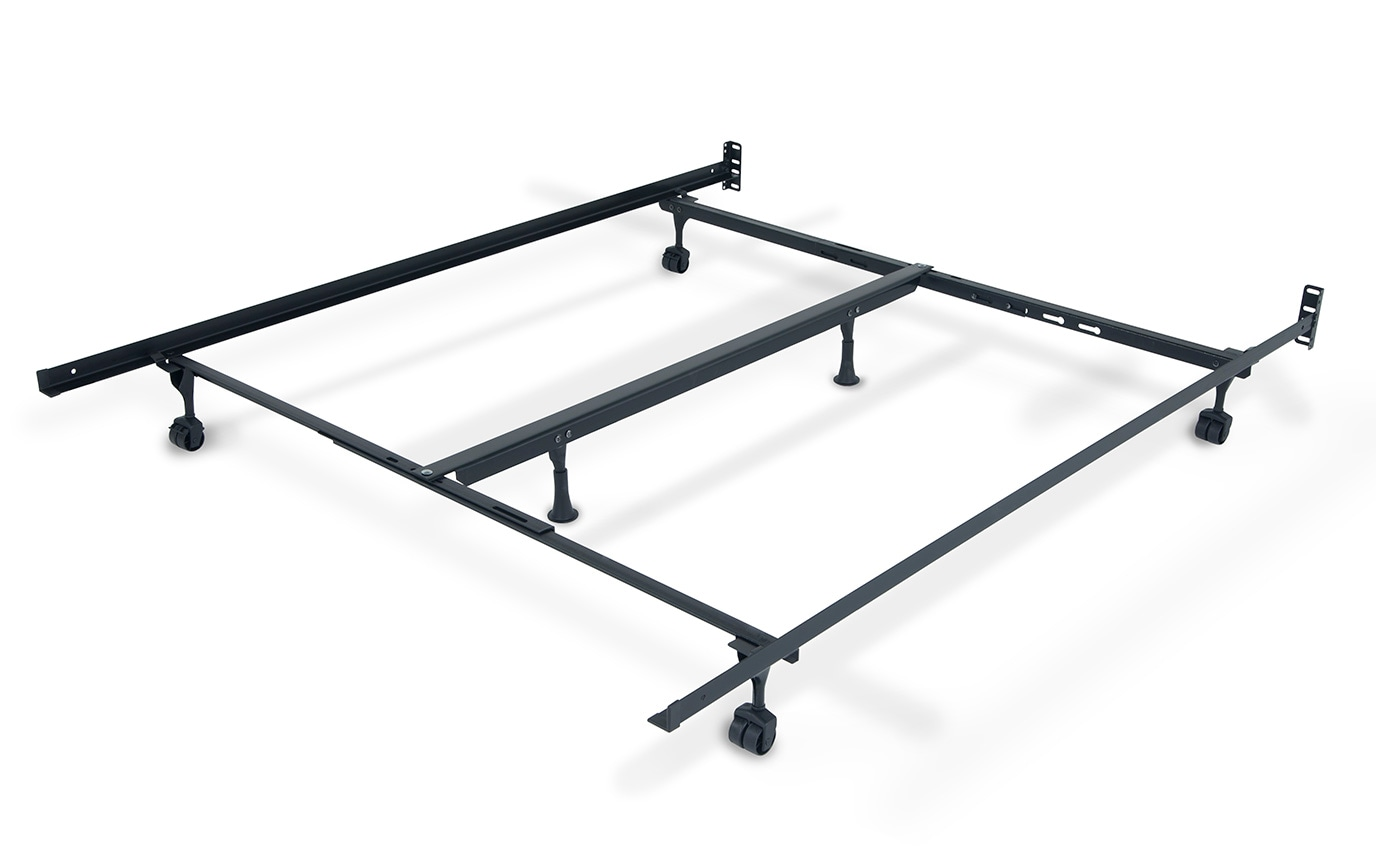 Queen/King Bed Frame With Casters | Bobs.com
