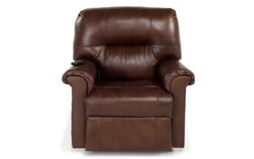 Leather Tobacco Power Lift Recliner