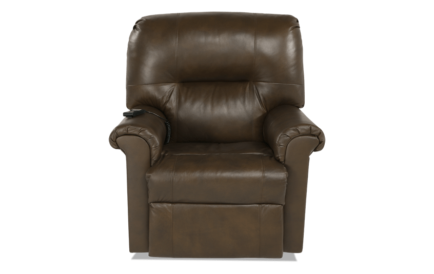 Leather Tobacco Power Lift Recliner Bobs Com