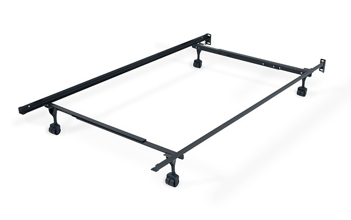Twin/Full Bed Frame with Casters