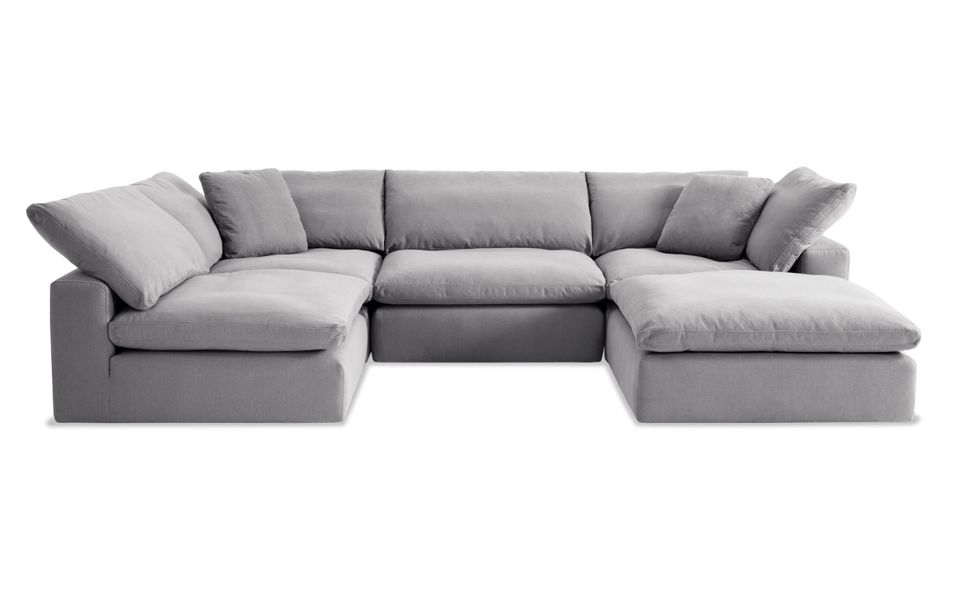 Pleasant Dream Gray Modular 5 Piece Sectional Pabps2019 Chair Design Images Pabps2019Com