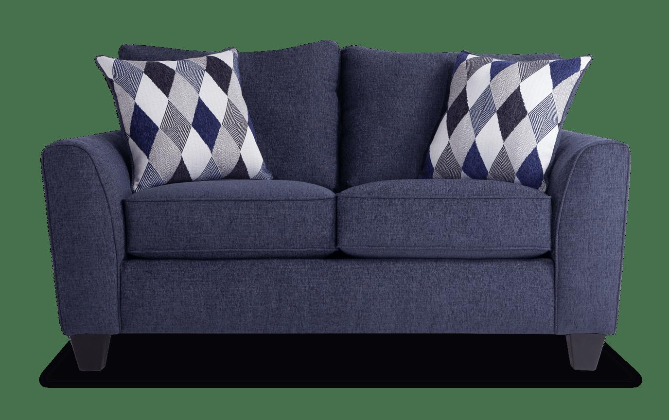 Terrific Capri Denim Loveseat Machost Co Dining Chair Design Ideas Machostcouk