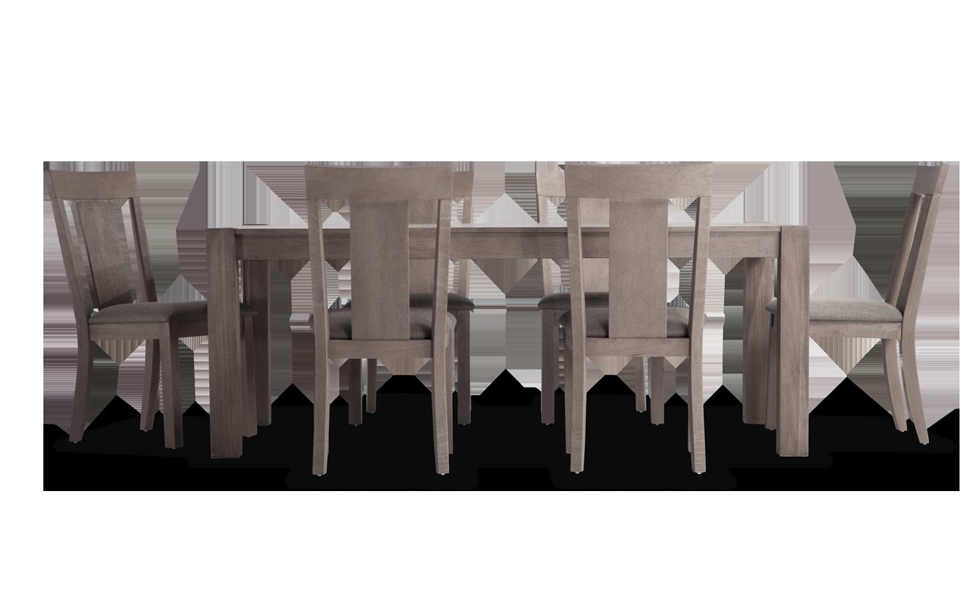 "Summit 42"" x 78"" Gray 7 Piece Dining Set"