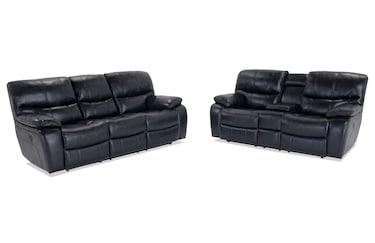 Super Lannister Power Reclining Sofa Console Loveseat Bobs Com Machost Co Dining Chair Design Ideas Machostcouk