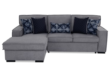 Pleasant Playscape Denim Right Arm Facing Sectional Bobs Com Theyellowbook Wood Chair Design Ideas Theyellowbookinfo