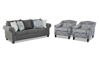 Amazing Artisan Beige Loveseat 2 Accent Chairs Bobs Com Caraccident5 Cool Chair Designs And Ideas Caraccident5Info