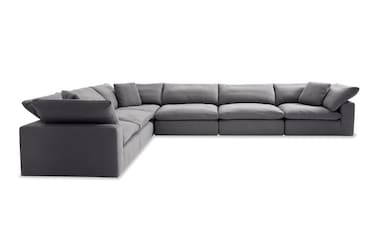 Luxe 4 Piece Right Arm Facing Sectional With Chaise Bobs Com