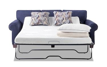 Katie 80 Charcoal Bob O Pedic Gel Full Sleeper Sofa