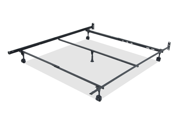 Queen King California Bed Frame, Queen Bed On Casters