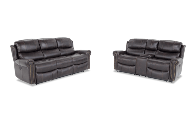 Lannister Reclining Sofa Console Loveseat