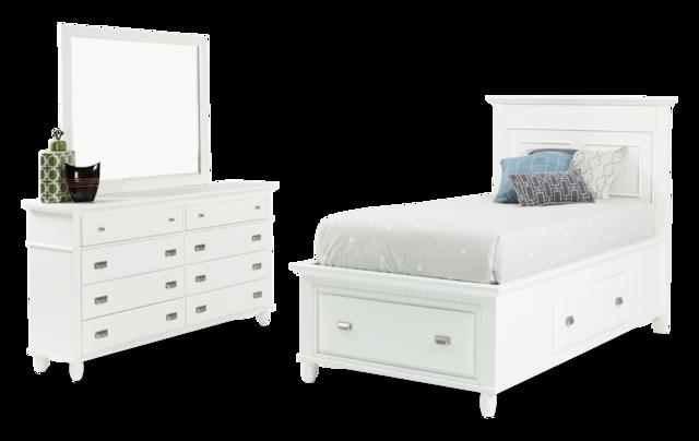 Spencer Storage Twin White Bedroom Set