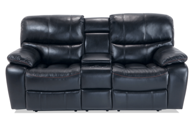 Fine Avenger Black Power Reclining Console Loveseat Ocoug Best Dining Table And Chair Ideas Images Ocougorg