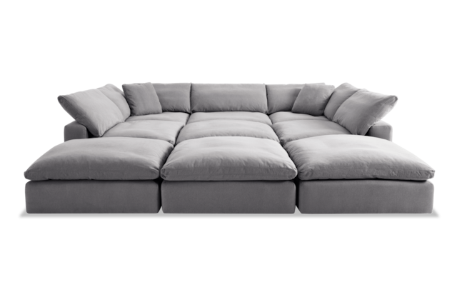 Dream Gray Modular 9 Piece Sectional