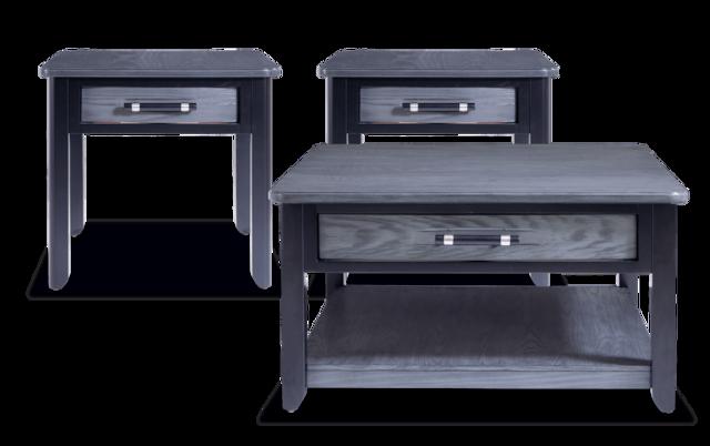 Dream Weaver Gray Black Square Coffee Table Set
