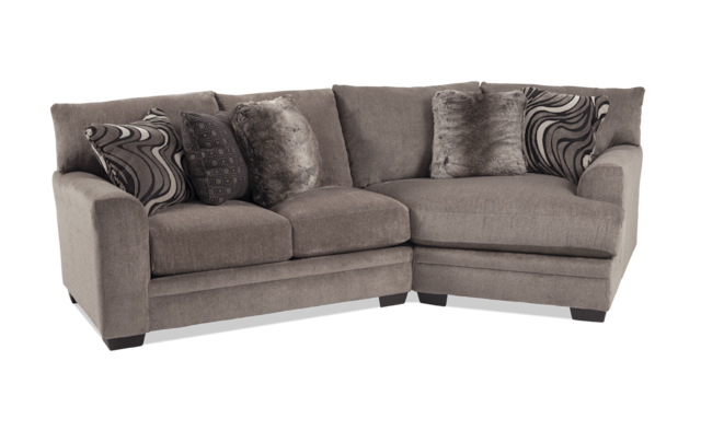 Gray 2 Piece Left Arm Facing Sectional
