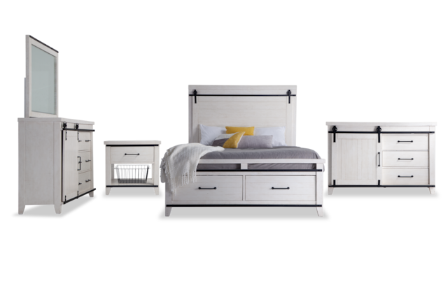 Montana Full White Storage Bedroom Set