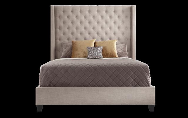 Emerson Queen Beige Bed Bob S, Bobs Furniture Headboards