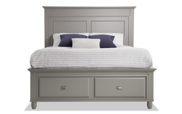 Spencer Queen Gray Storage Bed | Bobs.com