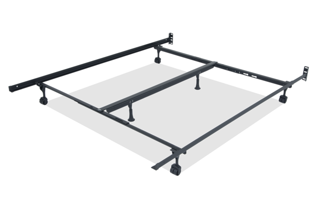 Queen King Bed Frame With Casters, Queen Bed On Casters
