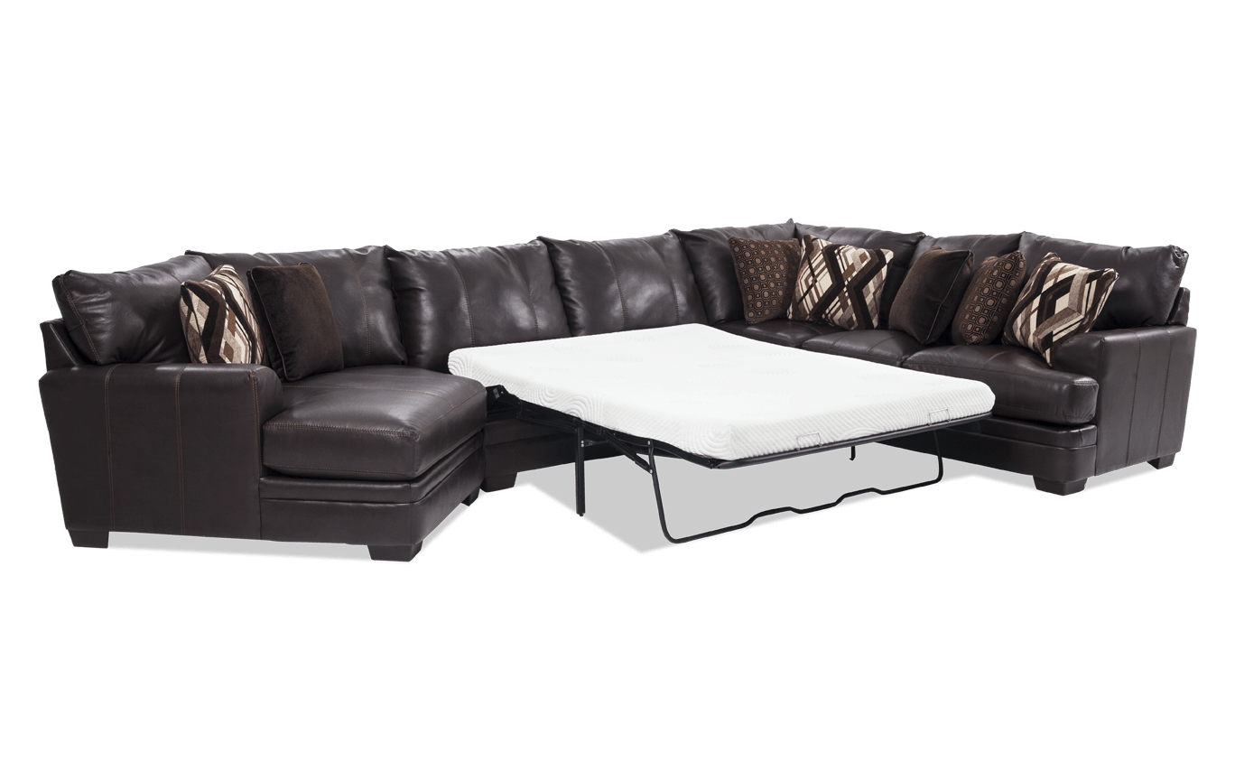 Marvelous Ritz 4 Piece Bob O Pedic Gel Queen Sleeper Sectional With Cuddler Chaise Download Free Architecture Designs Terstmadebymaigaardcom