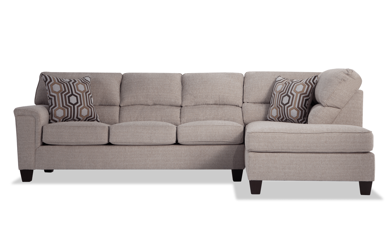 Calvin 2 Piece Onyx Black Left Arm Facing Sectional