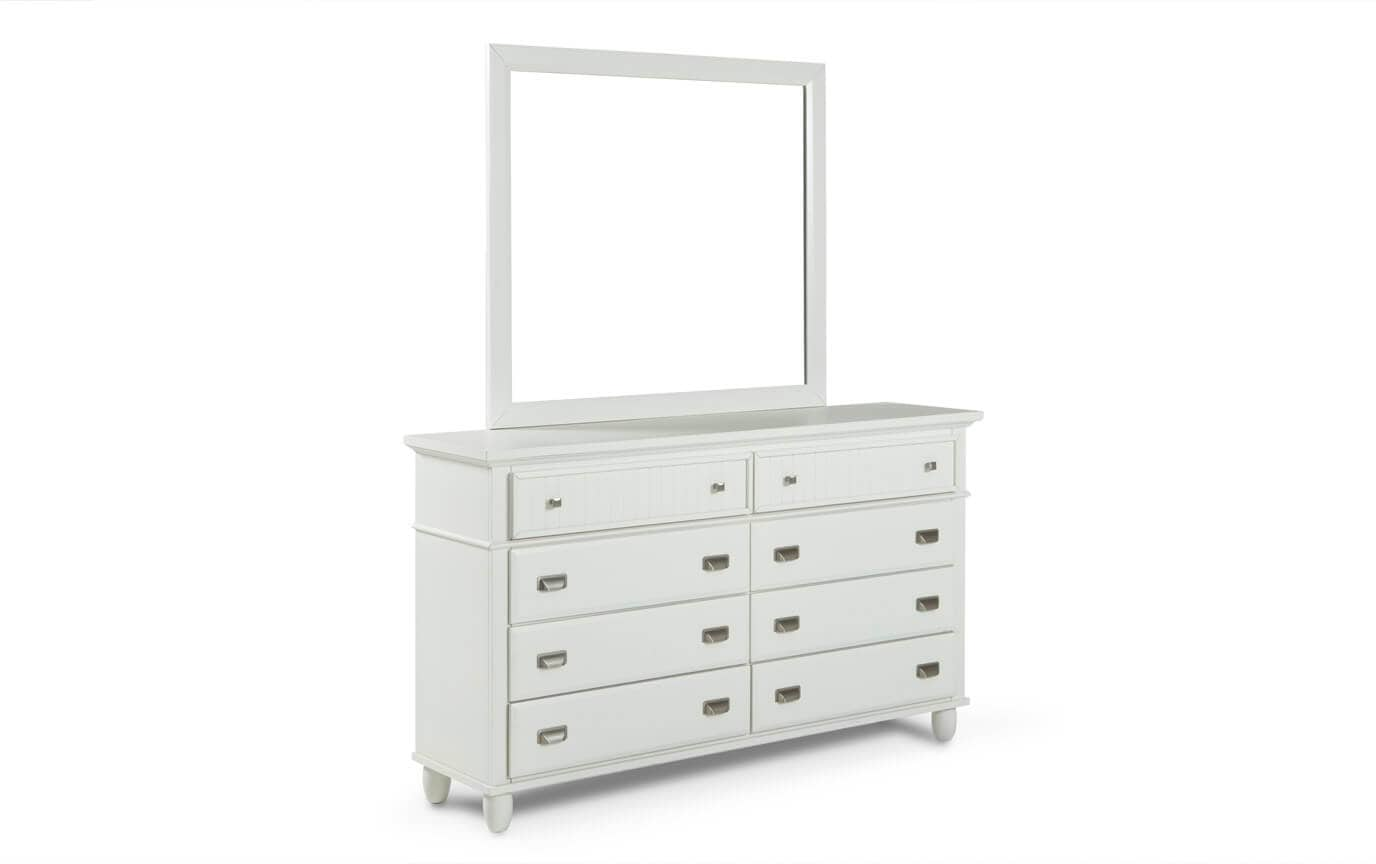Spencer White Dresser Mirror Bobs Com