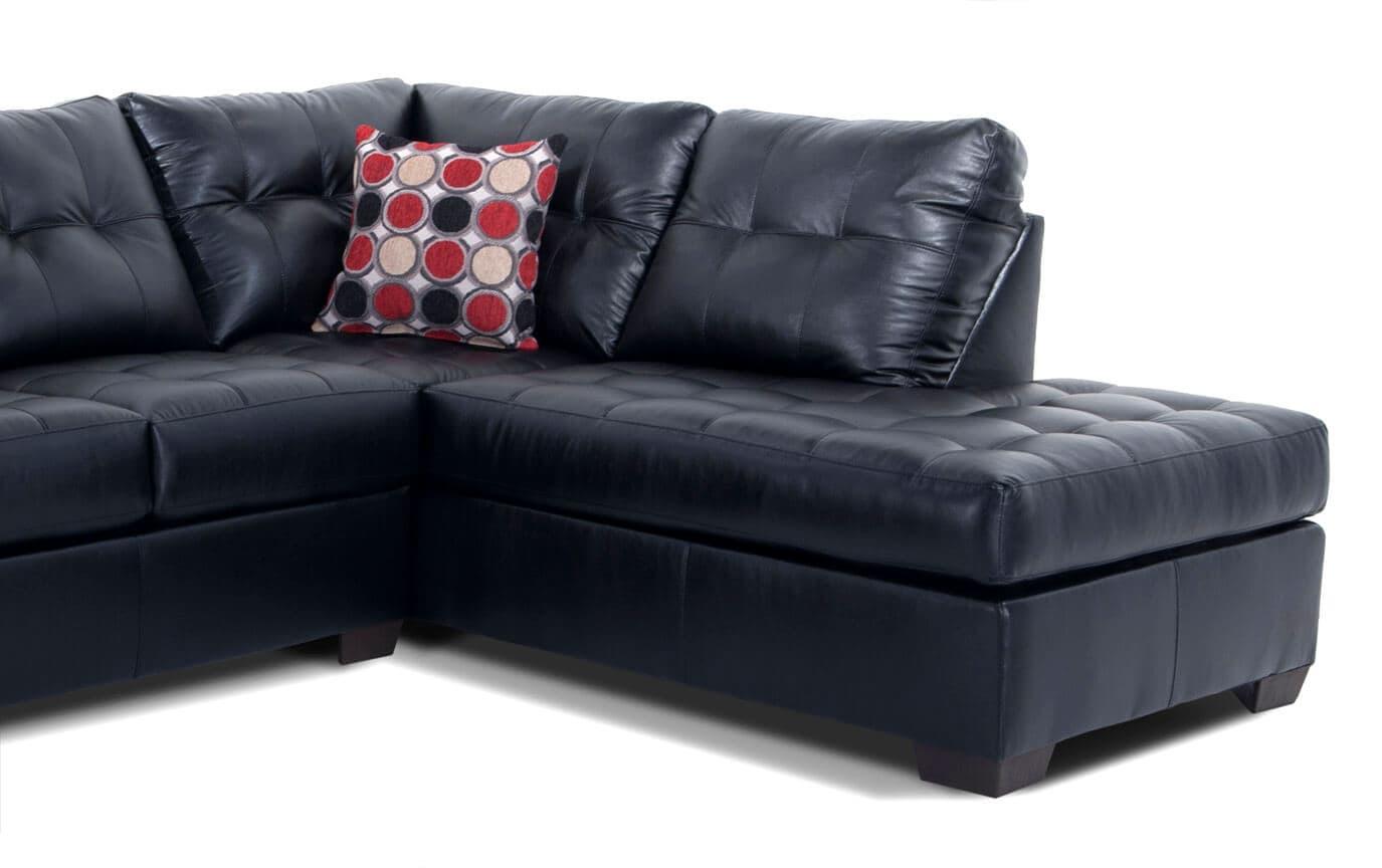 Marvelous Mercury Black 2 Piece Left Arm Facing Sectional Inzonedesignstudio Interior Chair Design Inzonedesignstudiocom