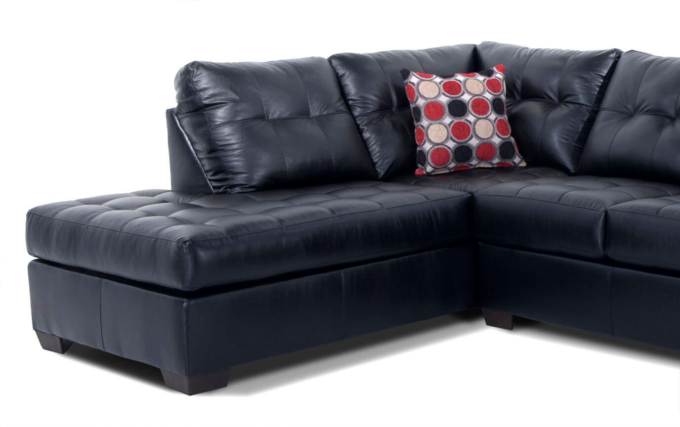 Strange Mercury Black 2 Piece Right Arm Facing Sectional Inzonedesignstudio Interior Chair Design Inzonedesignstudiocom