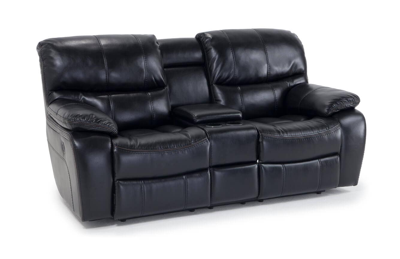 Groovy Avenger Black Power Reclining Console Loveseat Gmtry Best Dining Table And Chair Ideas Images Gmtryco