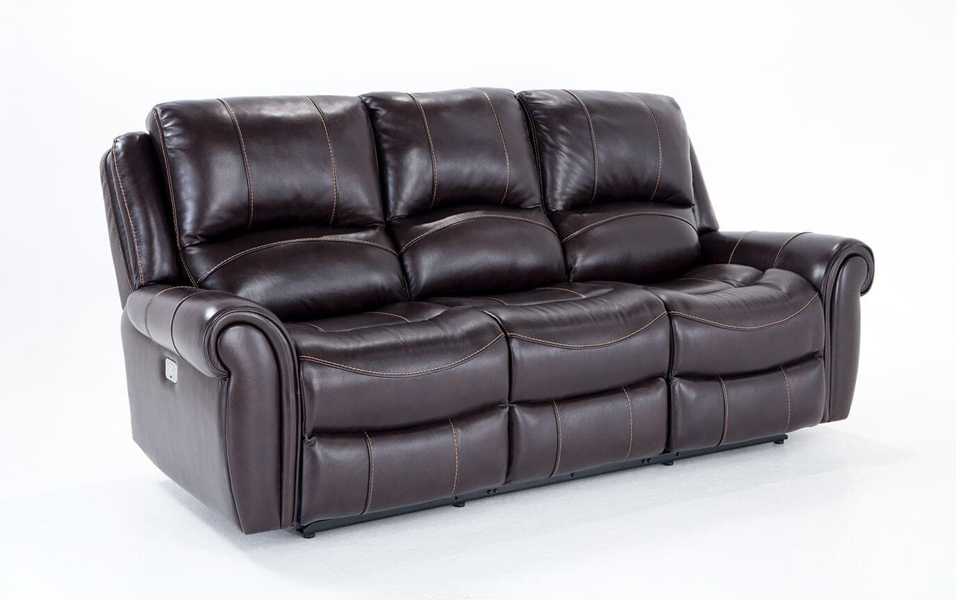 Astonishing Bennett Leather 88 Power Reclining Sofa Pabps2019 Chair Design Images Pabps2019Com