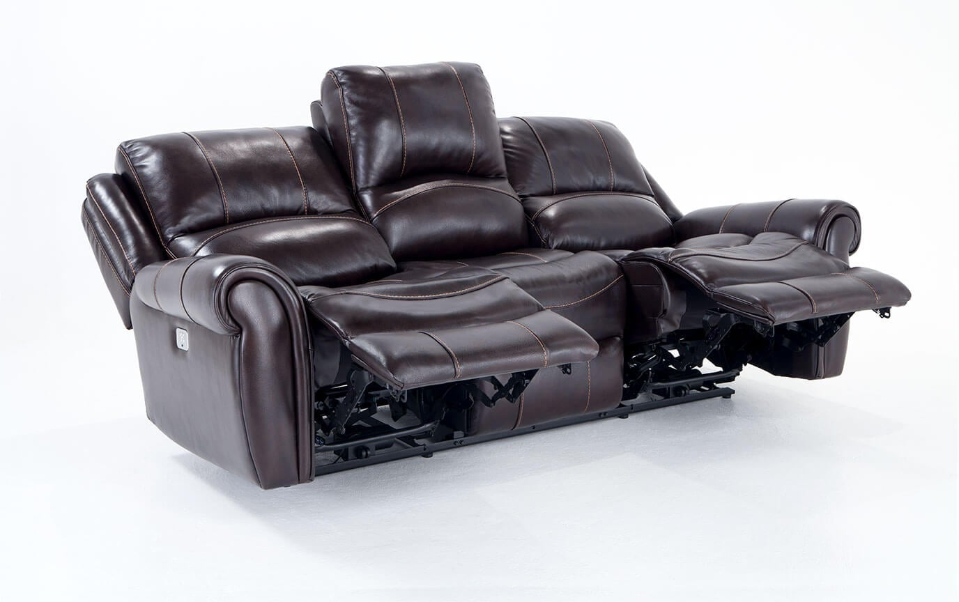 Awe Inspiring Bennett Leather 88 Power Reclining Sofa Pabps2019 Chair Design Images Pabps2019Com