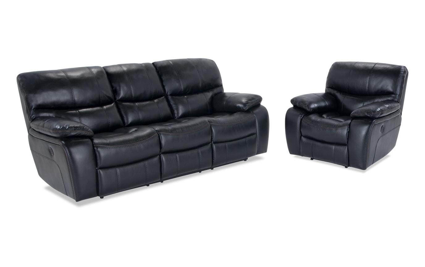 Magnificent Avenger Black Power Reclining Sofa Power Recliner Machost Co Dining Chair Design Ideas Machostcouk