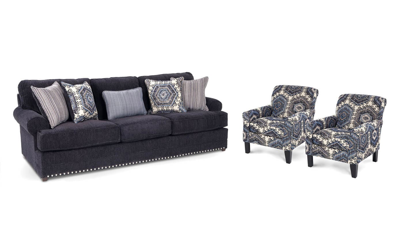 Fabulous Dakota Sofa 2 Accent Chairs Gmtry Best Dining Table And Chair Ideas Images Gmtryco