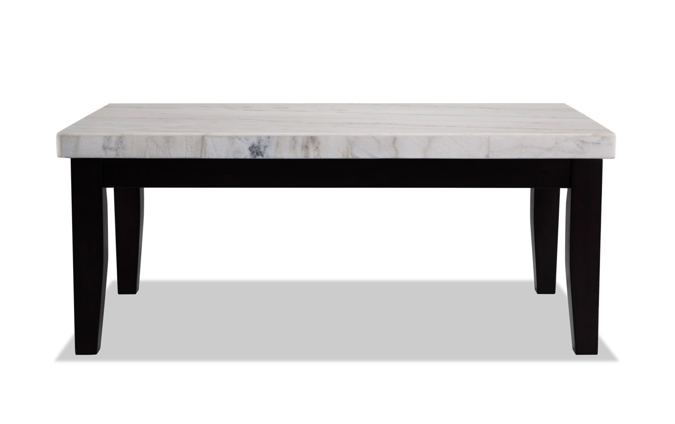 Montibello White Marble Coffee Table Bobs Com