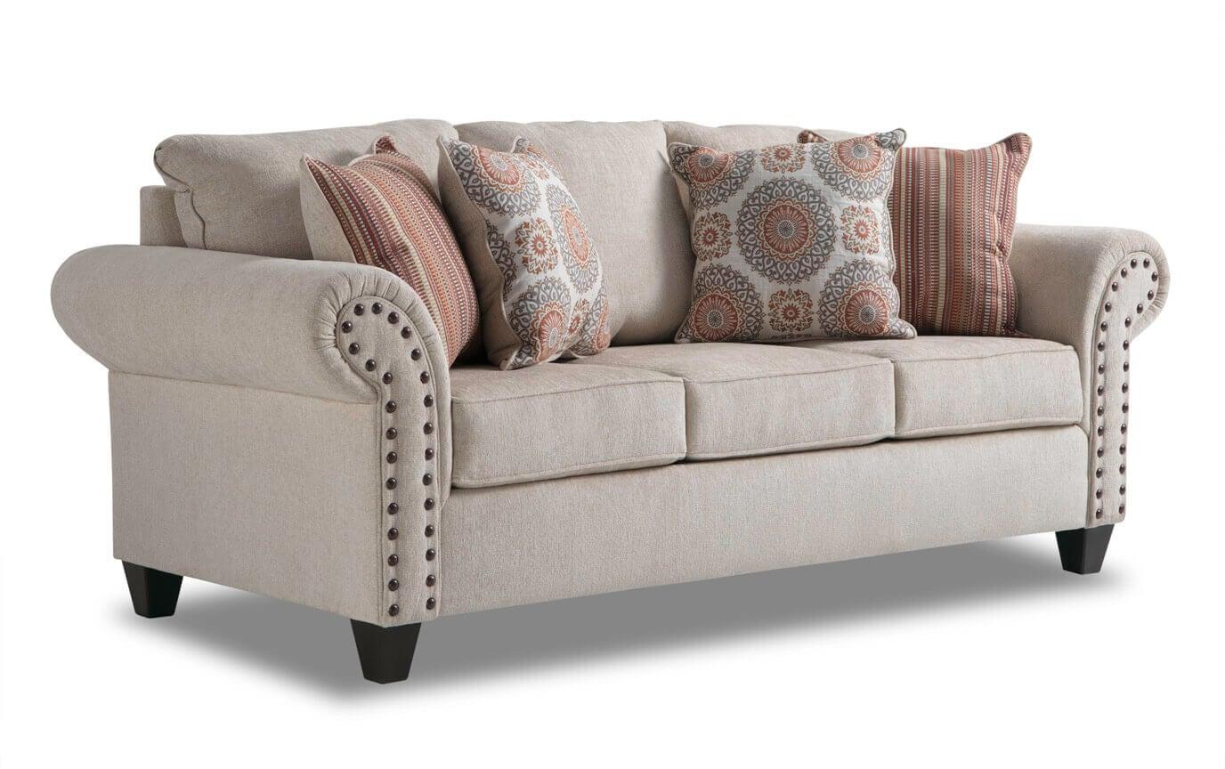 Magnificent Artisan Beige Sofa Loveseat Bralicious Painted Fabric Chair Ideas Braliciousco