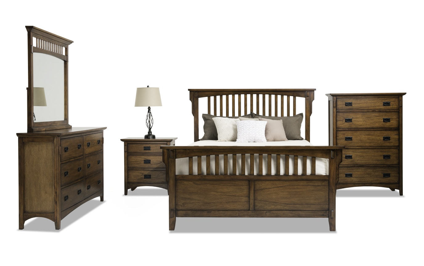 Mission Oak II Twin Panel Bedroom