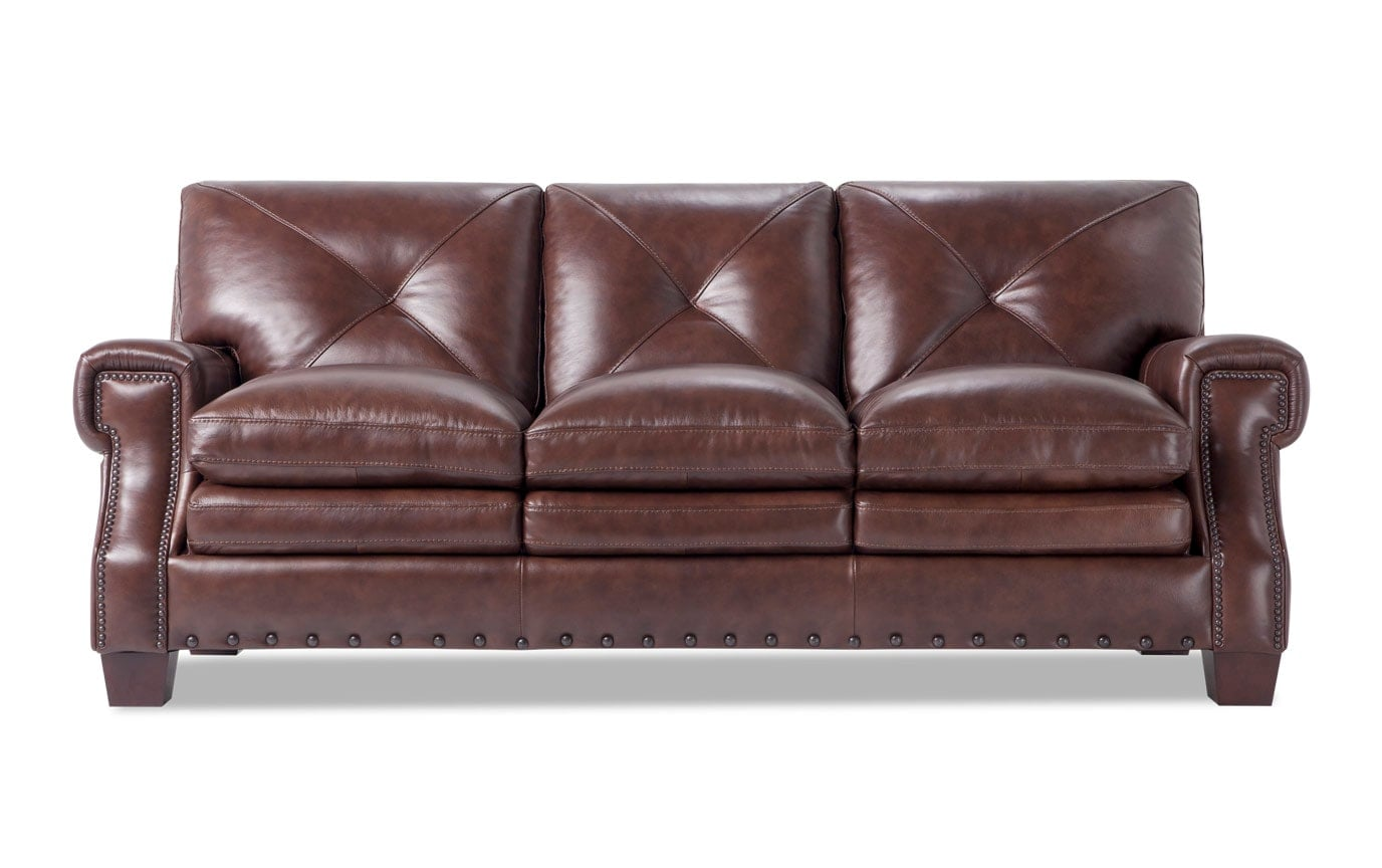 Kennedy Brown Leather Sofa Set
