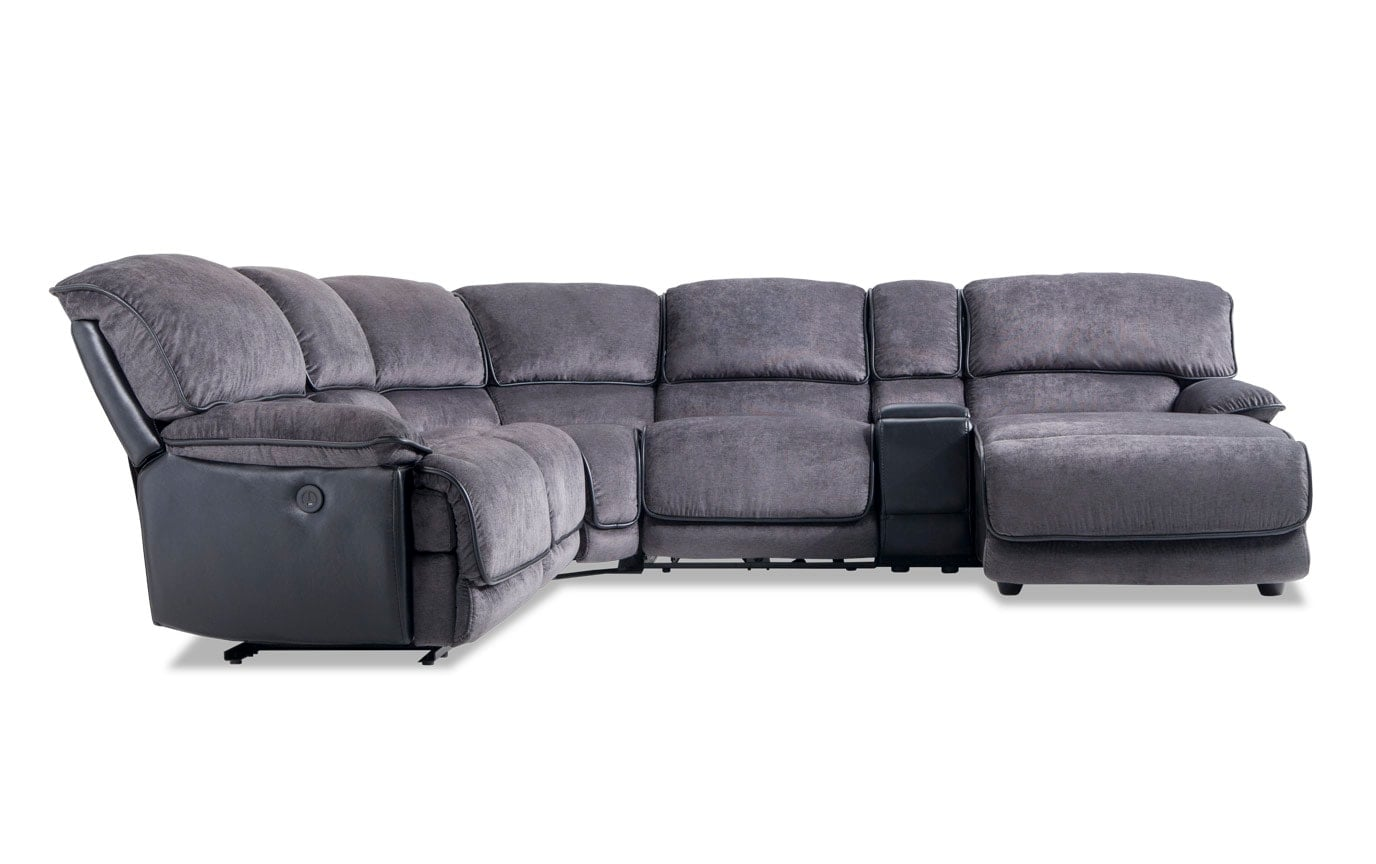 Cool Dawson Gray 6 Piece Power Reclining Left Arm Facing Sectional Dailytribune Chair Design For Home Dailytribuneorg
