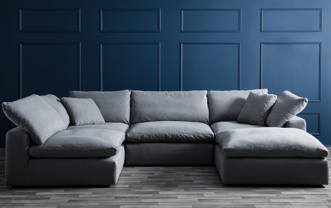 Tremendous Dream Gray Modular 5 Piece Sectional Dailytribune Chair Design For Home Dailytribuneorg