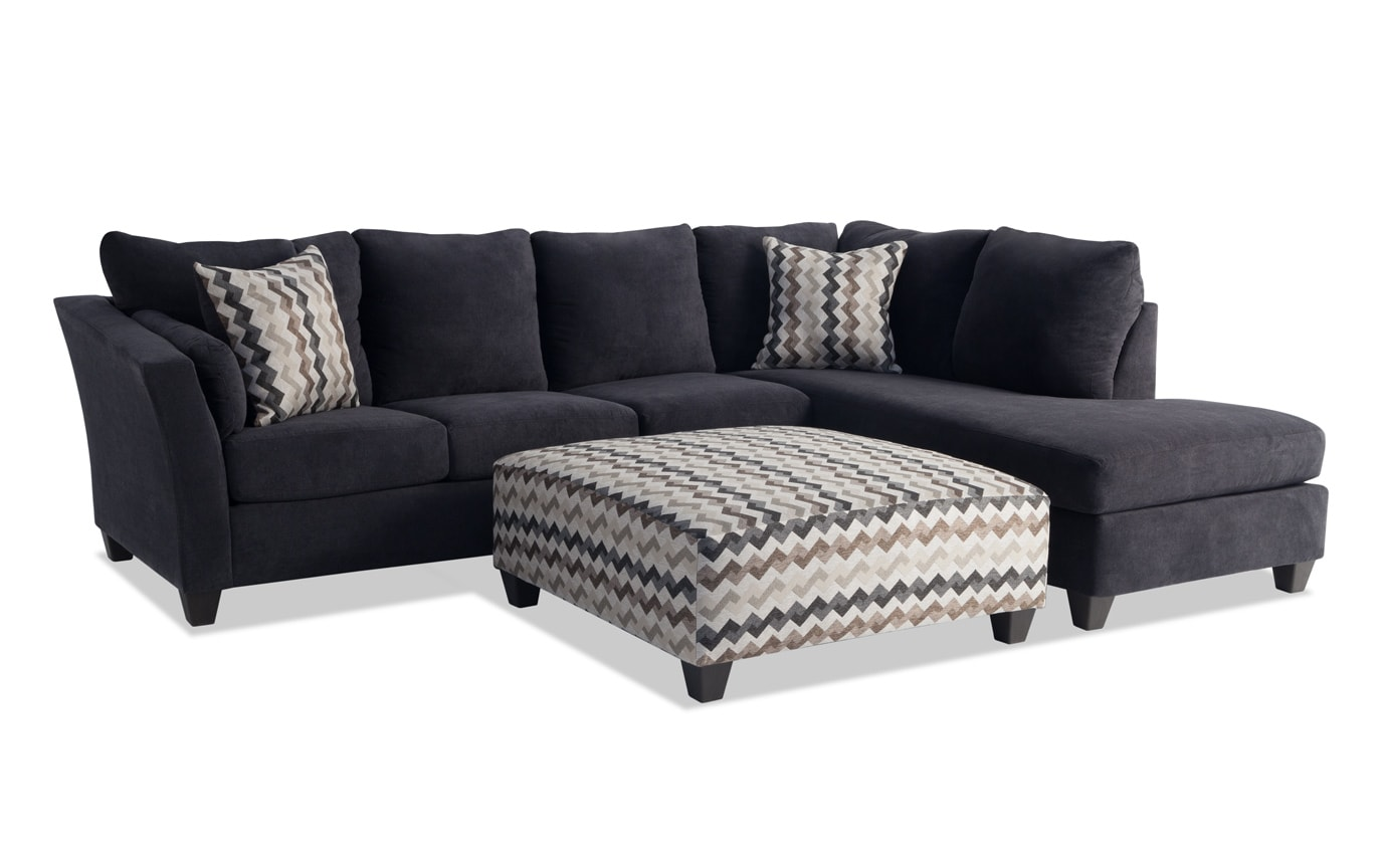 Virgo Brown 3 Piece Left Arm Facing Sectional