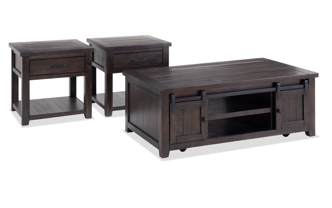 Expresso Coffee Table.Montana Espresso Coffee Table Set