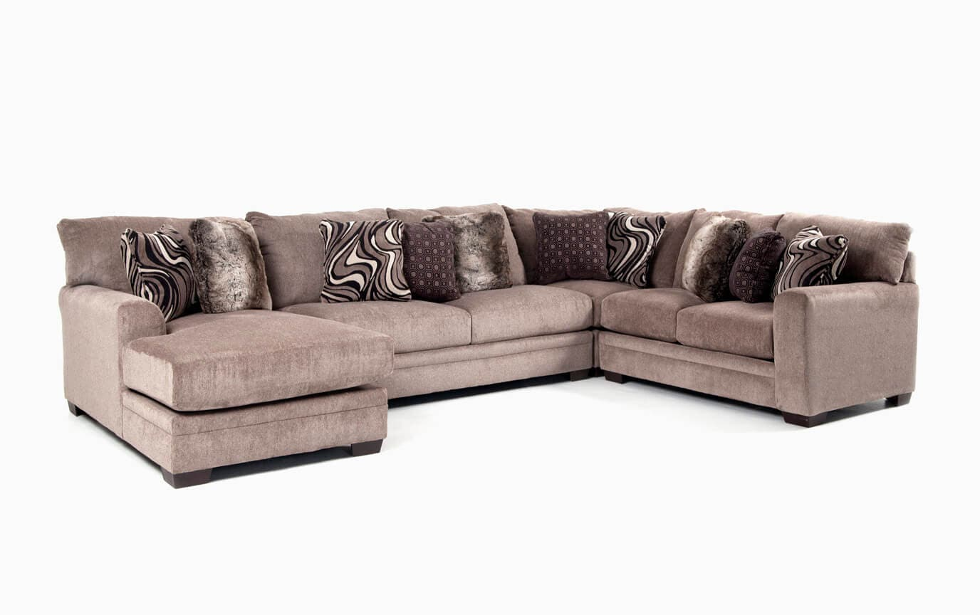 Luxe Gray 4 Piece Right Arm Facing Sectional With Chaise Bob S Discount Furniture
