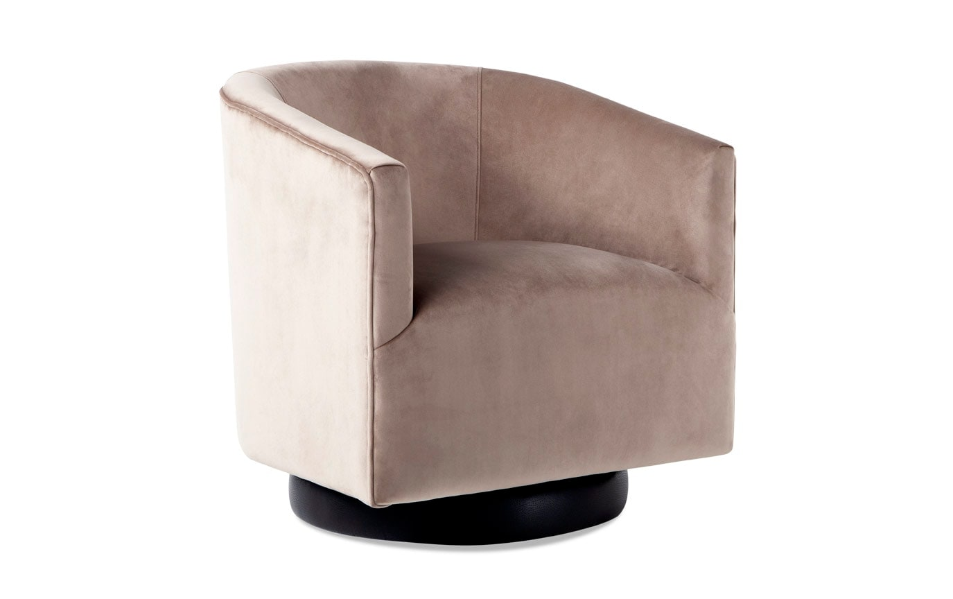 Astounding Keaton Camel Swivel Chair Bobs Com Creativecarmelina Interior Chair Design Creativecarmelinacom