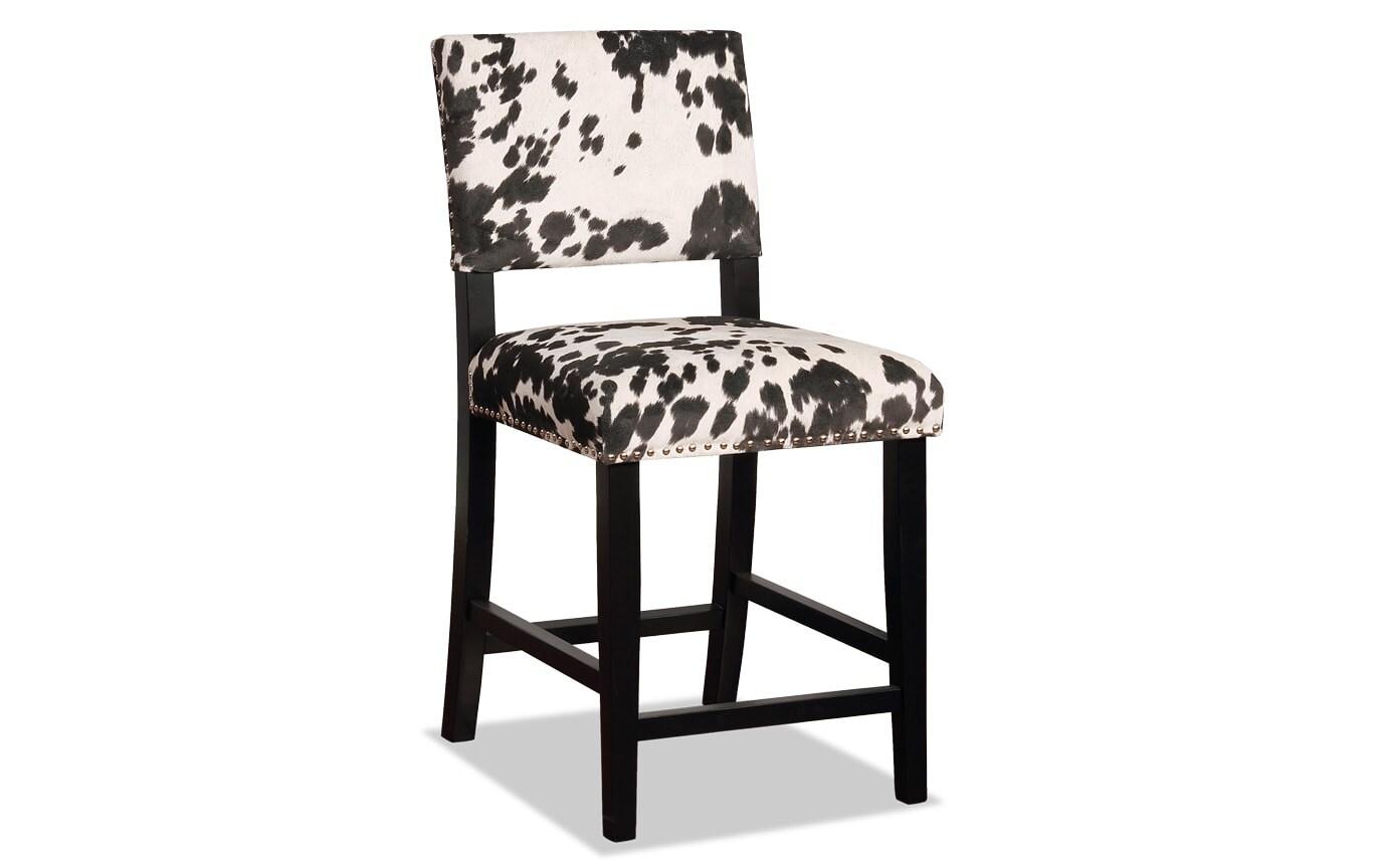 Tremendous Theresa Cowprint Counter Stool Dailytribune Chair Design For Home Dailytribuneorg