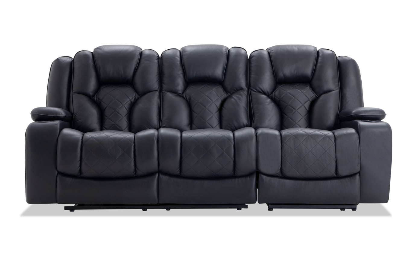 Panther Leather Power Reclining Sofa & Power Recliner